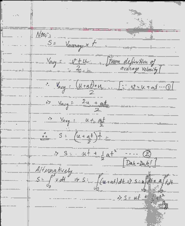 Examples Of Velocity In Everyday Life What is the derivation...