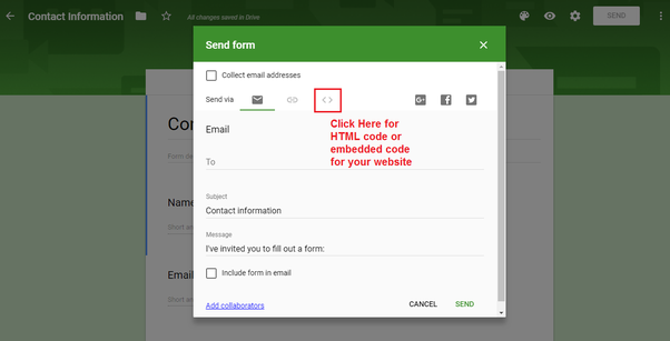How to insert Google form on a website page - Quora