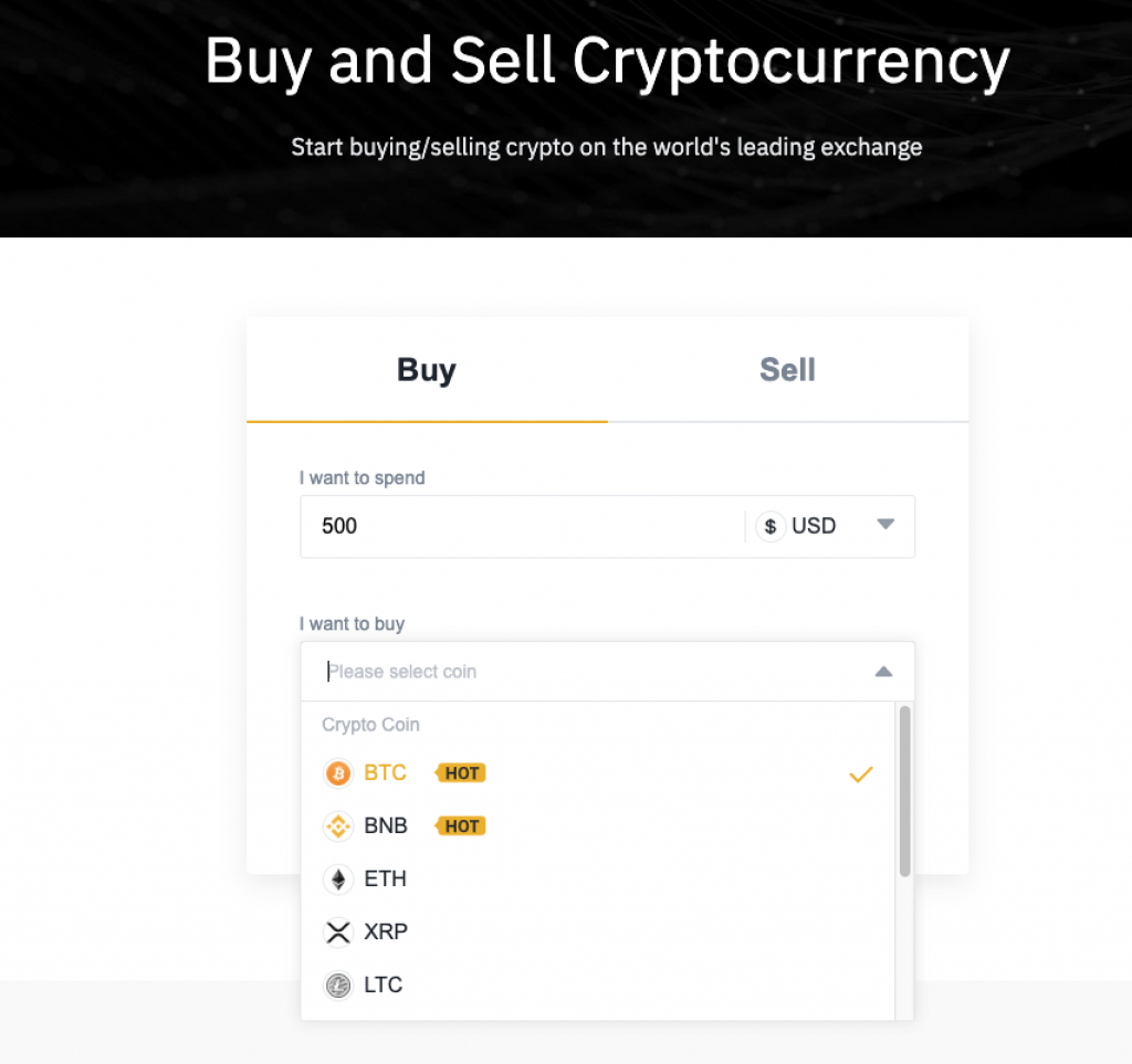 binance buy sell