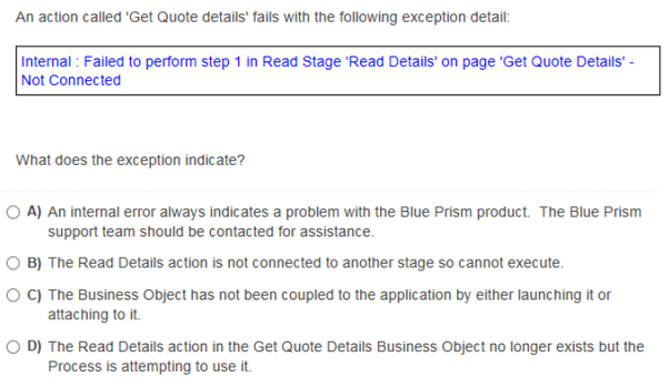 What are some sample questions which are asked in the Blue Prism