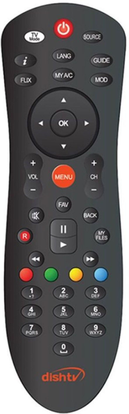 How to program 'TV mode' button in a DishTV universal remote