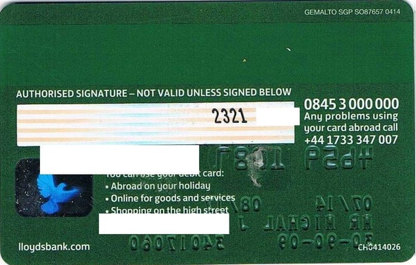 Where Is The Postal Code On A Visa Credit Card Quora