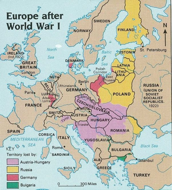 How did european boundaries change after world war 1 quora note how all of the empires before 1914 are now non existent gumiabroncs Choice Image