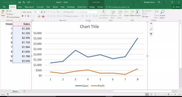 how to put double lines in excel