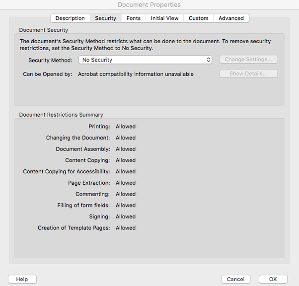 On a MacBook) I have a secured PDF that is only readable on Adobe