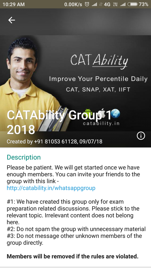 What are some of the WhatsApp group links for the NMAT and
