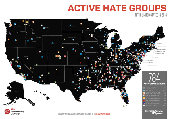 Is there a map of the united states that depicts where racism is heres a map according to incidents reported on social media after the 2016 election gumiabroncs Image collections