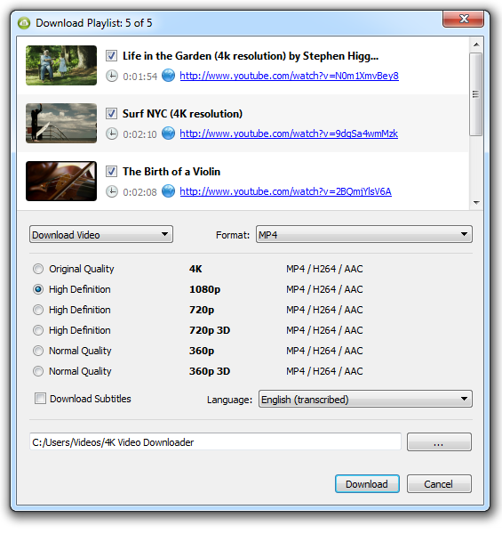 7. Now you just need to wait until all files are downloaded and watch the  videos.