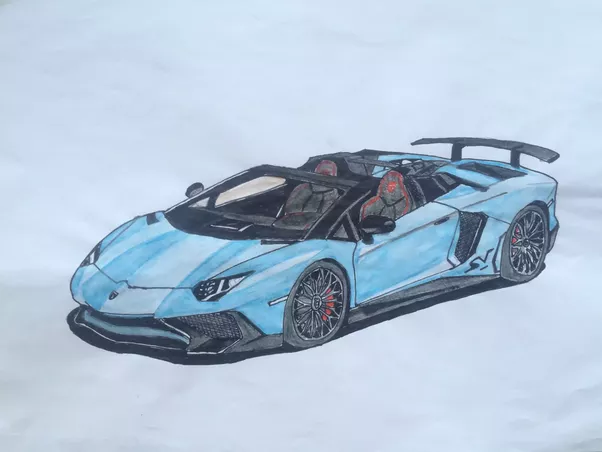 How To Draw A Lamborghini Aventador Step By Step Quora