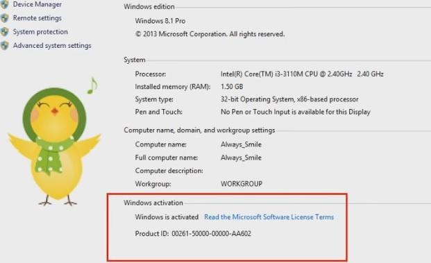 windows 8.1 single language product key v8p66