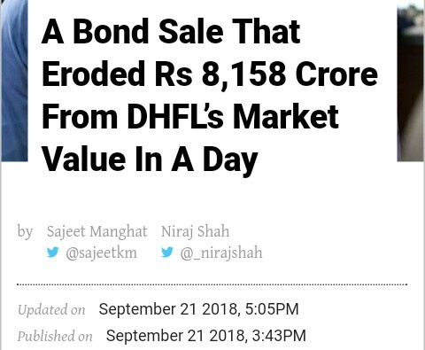 Erosion of DHFL market capital