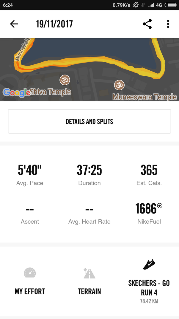 And run one km one fine morning at 7:00 a.m.. Stop your run after 1km and  the app will tell you the estimated number of calories you have burnt  during your ...