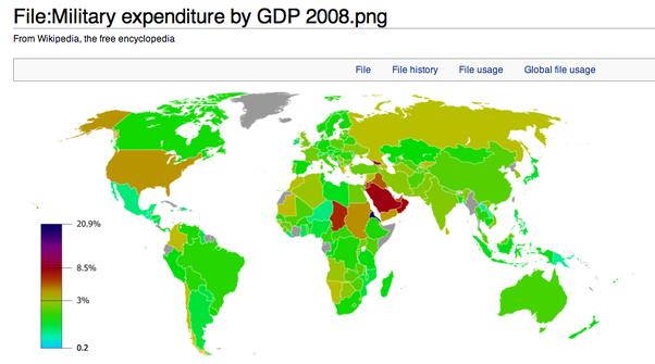 How can nordic countries spend so little on defense quora filemilitary expenditure by gdp 2008g gumiabroncs Gallery
