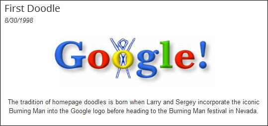what was google s first doodle quora