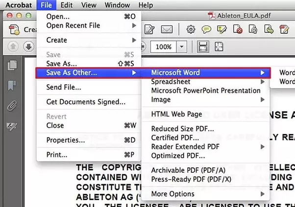Convert to PDF from Office apps