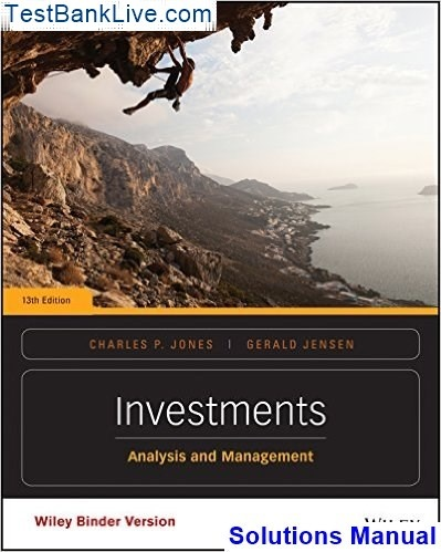 Investments Analysis And Management Pdf