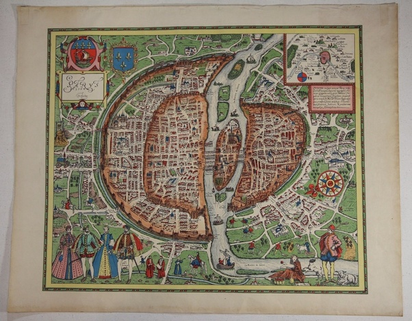 How much is this old map worth quora this beautiful map of paris from 1564 is offered for 125 or best offer on ebay gumiabroncs Images