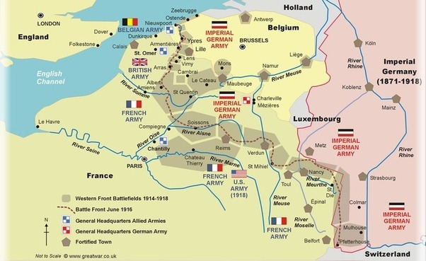 The British In Europe Fought On The Western Front Where Most Of Their  Forces Were Concentrated In Belgium And Parts Of Northern France.