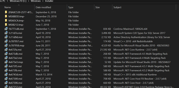 Is it safe to delete C:\Windows\Installer on Windows 10? - Quora