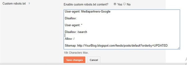 where can i upload xml sitemap in blogger blog quora