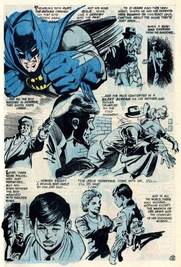 Whats batmans origin story quora the boy is comforted by dr leslie thompkins voltagebd Image collections