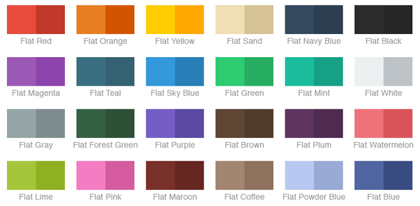 Chameleon Equips You With 3 Different Classes Of Flat Color Schemes That Can Be Generated From A Or Non In The Examples Below