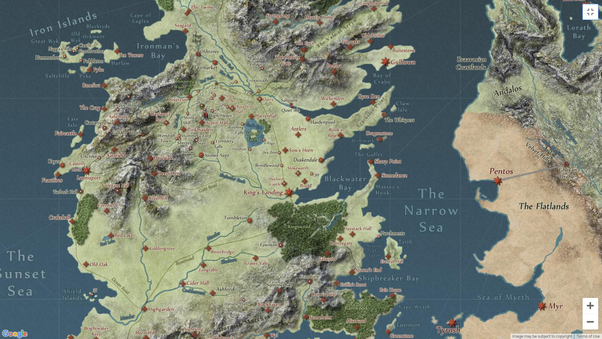 Map of game of thrones pdf