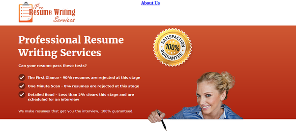 History Of Producing Results!  Resume Writing Services