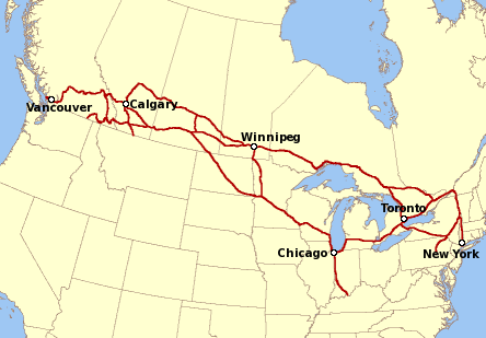 the canadian federation had not ended its transcontinental railroad until 1885 i think incidentally its termination was what made much easier the utter