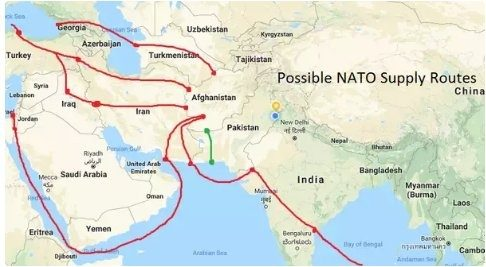 us iran relations are always at loggerheads so passing through iran is not possible