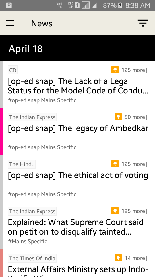 What are the best android apps for UPSC civil services exam