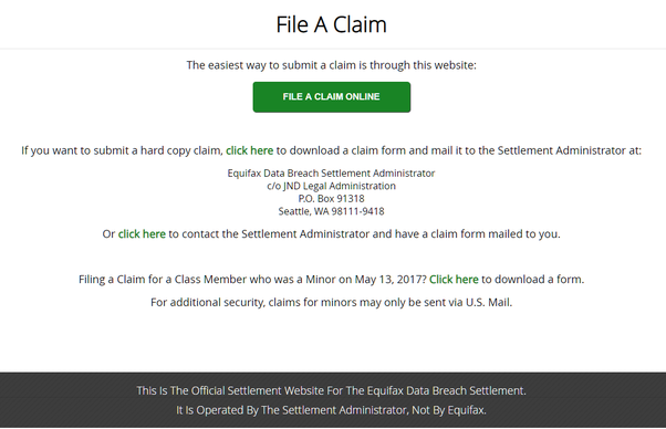 equifax claim form for breach  How to file a claim with the Equifax Data Breach and how ...