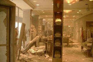 World trade center collapse inside
