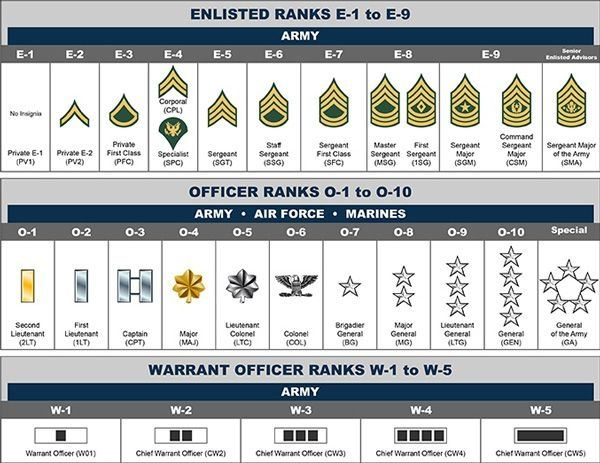 Basic Army Ranks In Order What are the National ...