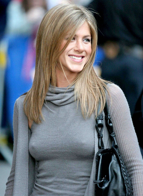 Why do they let Jennifer Aniston's nips show visibly on Friends almost every episode? Does no ...
