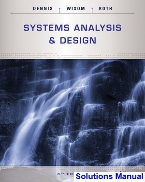 Systems analysis and design 5th edition pdf.