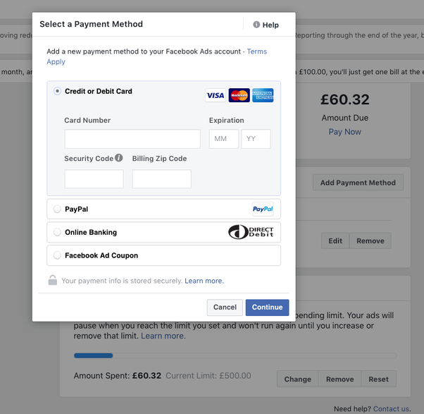 can i use someone else u0026 39 s credit card for my facebook ads