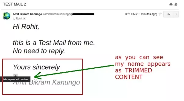 how to get gmail to not trim my name in the closing quora