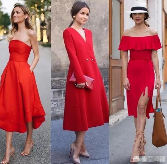 what color heels go with a red dress
