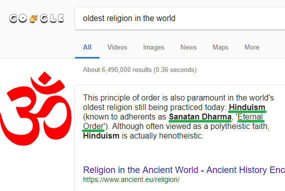 What is the oldest religion book