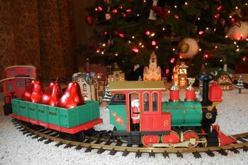 if you decided to exchange gives but you feel that tree has nothing under it you can get a train to put under the tree - Train Under Christmas Tree