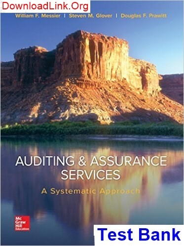 How To Download The Test Bank For Auditing And Assurance Services A