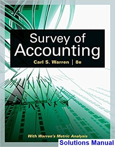 where can i download the survey of accounting 8th edition warren