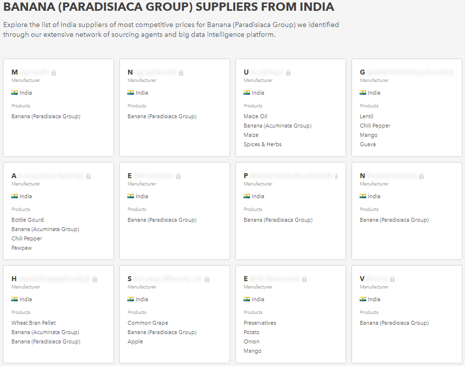 How are bananas exported from India to foreign countries