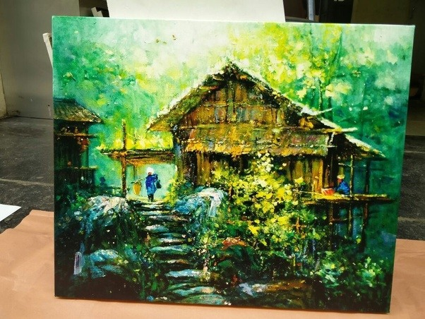 can i paint on printed canvas quora