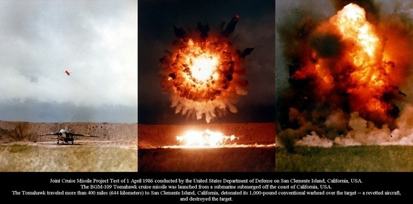 Atomic Bomb Radius >> How much damage does a Tomahawk missile do? I understand that they are self-guided, but what is ...