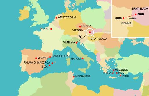 Cartina Con Capitali Europa.Quali Sono Le Due Capitali Di Stato Che Sono Piu Vicine Tra Loro In Europa Quora
