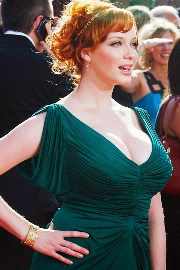 What do you say about Christina Hendricks breasts? Is it