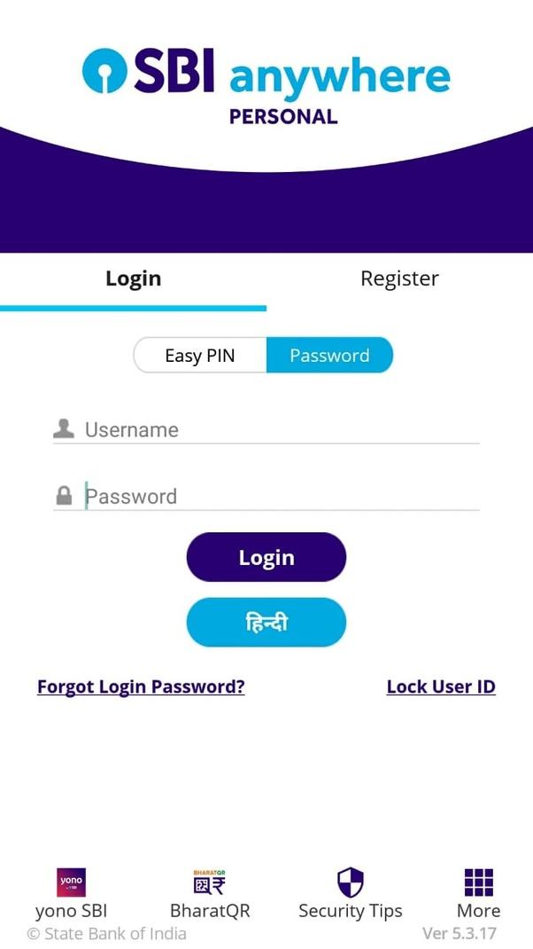 How to change my SBI Anywhere app password - Quora