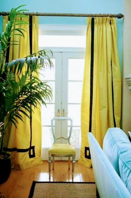 What Color Curtains Go With A Yellow Room
